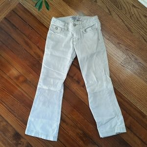 Old Navy Girls White Bootcut Cords Size 6